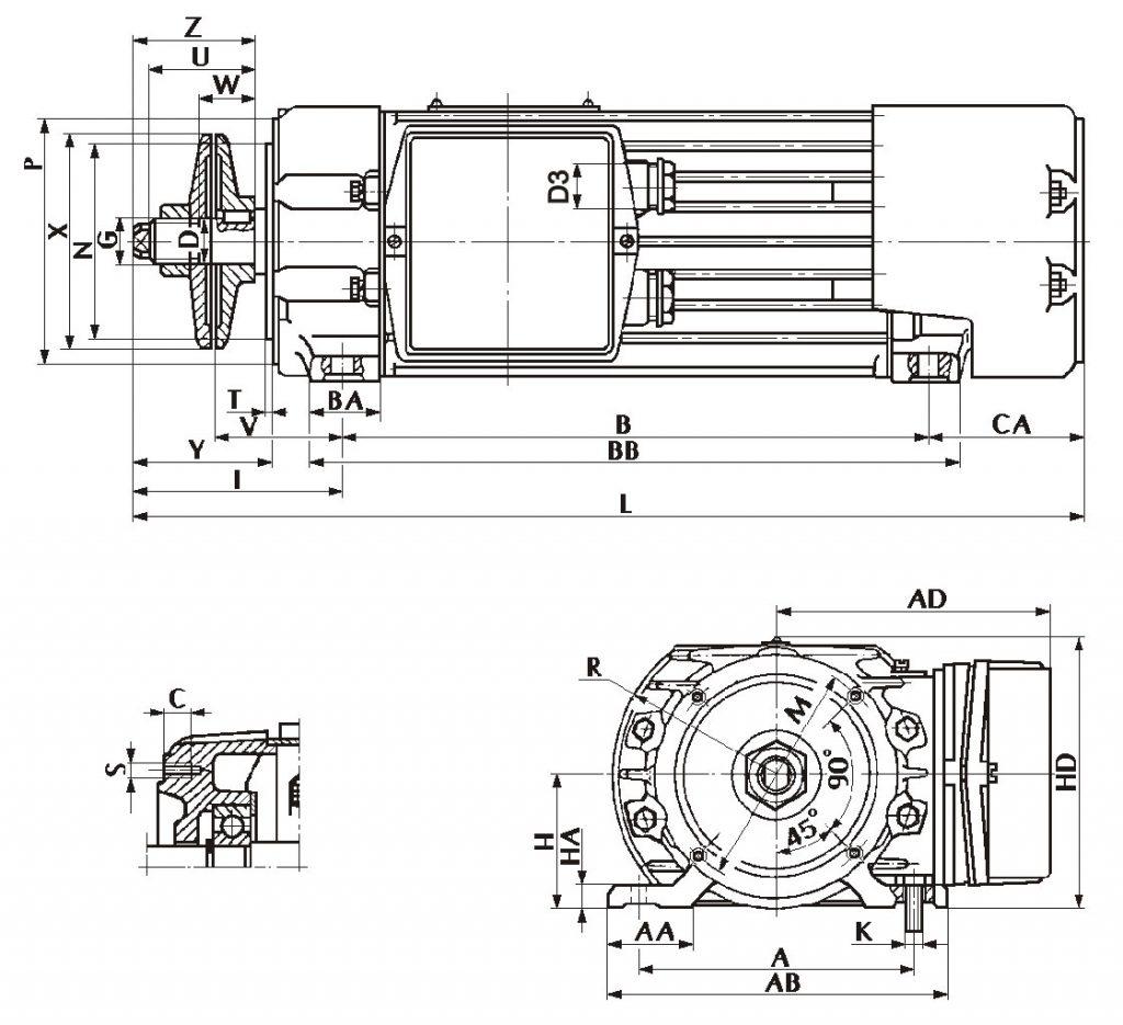 Silnik jamnik wymiary montażowe